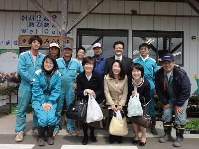 4月7日 安部晋三婦人の昭恵さんと共に蔵王町訪問