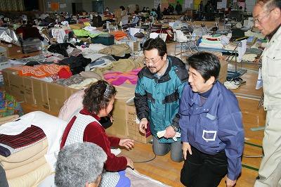 4月8日 安部晋三元総理と被災地支援