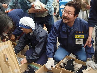 4月17日 山元町避難所での炊き出し