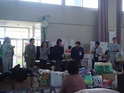 5月2日 亘理町避難所訪問