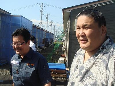 10月16日 亘理町仮設住宅「高砂部屋炊き出し」