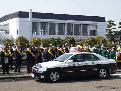 4月6日 名取市春の交通安全運動出発式
