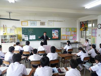 7月13日 船迫中学校「職業人に聞く」