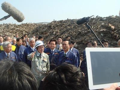 4月9日 全国政調会長が名取市を視察