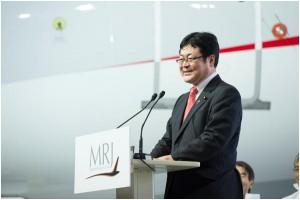 式典で挨拶する西村国土交通副大臣
