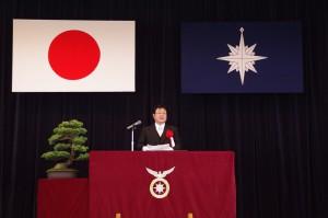 【海上保安学校】西村副大臣による祝辞